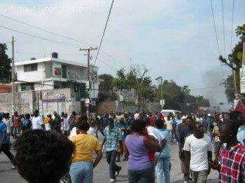 The Manifestation In Port-au-Prince Haiti Election 2010