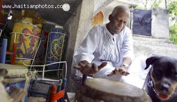 Voodoo Priest, Max Beauvoir, says it's a dangerous time to be a Voodoo priest in Haiti